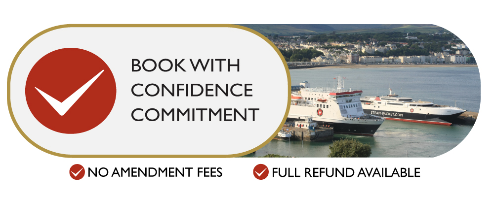 Book with Confidence Commitment - No Ammendment Fees & Full Refund Available