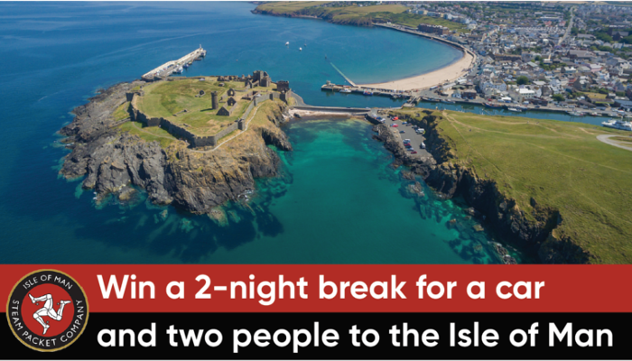 WIN A 2-NIGHT BREAK FOR A CAR AND TWO PEOPLE TO THE ISLE OF MAN