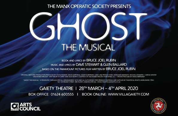 Ghost the Musical - Event poster with dates