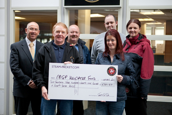 Steam Packet Company passengers have raised a fantastic £6,389.87 for the Manx Grand Prix Helicopter Fund