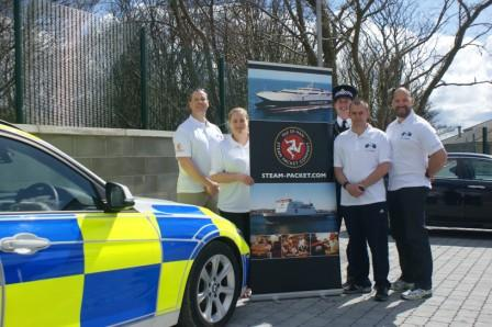 Isle of Man Constabulary team members (from left) Quentin De Backer, Kelly Wilkinson, David Baker, Carl Woods and Graham Corran
