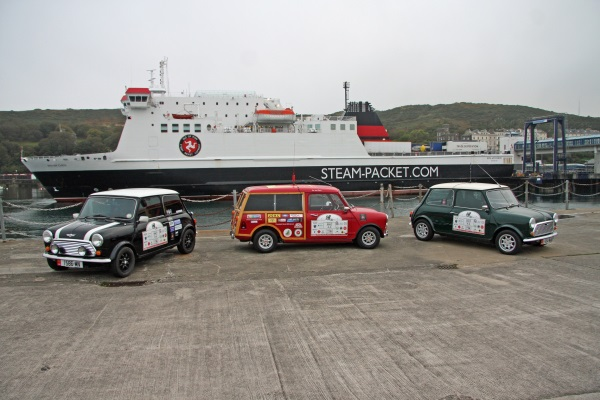 Classic cars on the pier in front of the Ben my Chree