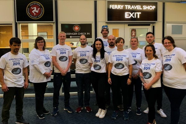 The group raised more than £2,000 for A Little Piece of Hope by completing a charity skydive