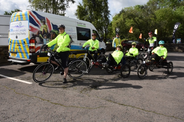 Some of the EMpowered cyclists at a recent cycling event in the UK