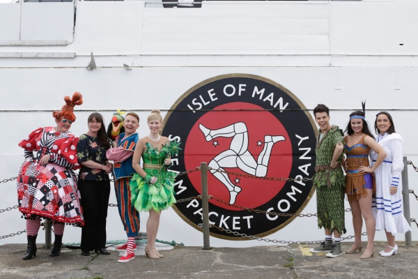 Steam Packet Company Marketing Manager Renee Caley (second on the left) with some of the  Peter Pan cast