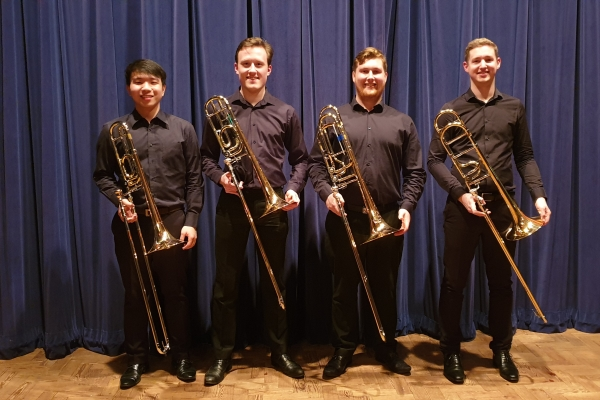 The Northern Trombone Quartet on their visit to the Isle of Man