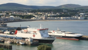 Isle of Man Steam Packet Company fleet in Douglas Harbour