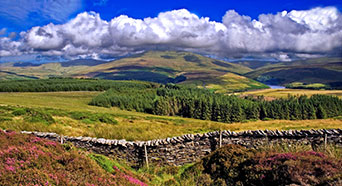Overlooking Sulby Reservoir and Snaefell