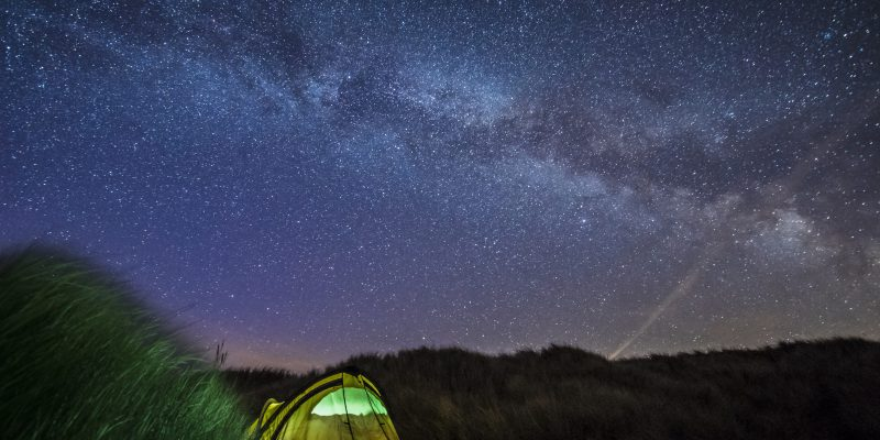 The night sky at blue point beach.