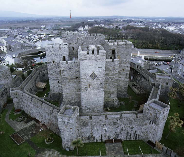 Aerial view of Castle Rushen, Castletown