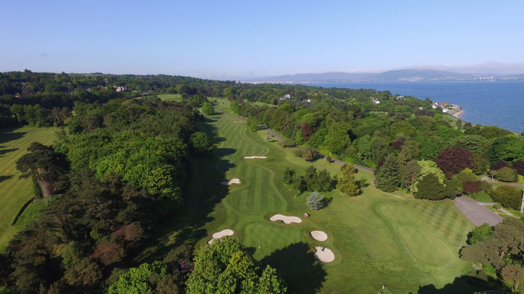 A aerial view of Royal Belfast Golf Course